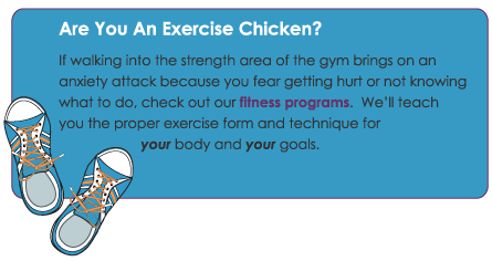 Don't be an Exercise Chicken...at Salvere Health & Fitness you'll learn the safe way to workout